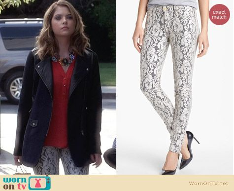 7 For All Mankind Ochid Lace Skinny Jeans worn by Ashley Benson on PLL