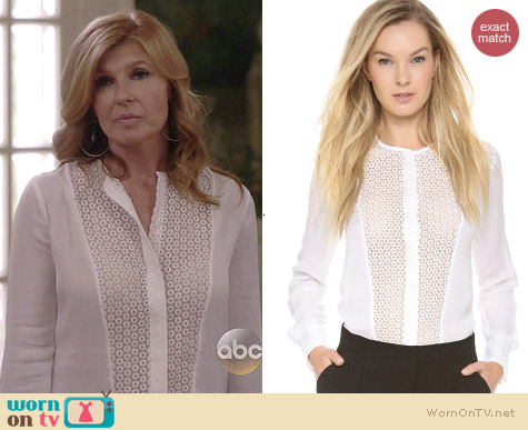 ALC Deen Blouse worn by Connie Britton on Nashville