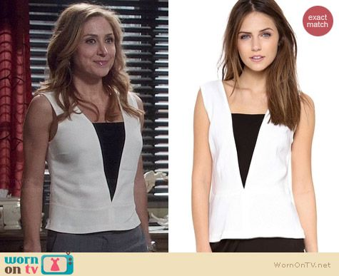 ALC Veda Top worn by Sasha Alexander on Rizzoli & Isles