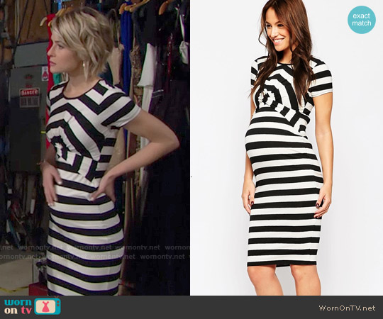 ASOS Maternity Body-Conscious Dress In Stripe With Cross Front worn by Linsey Godfrey on The Bold & the Beautiful