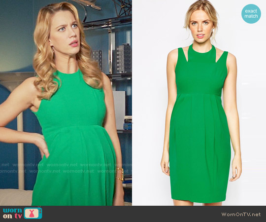 ASOS Maternity Tulip Dress With Cut Out Neck worn by Yael Grobglas on Jane the Virgin