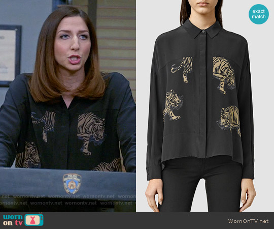 All Saints Misu Shere Shirt worn by Chelsea Peretti on Brooklyn Nine-Nine