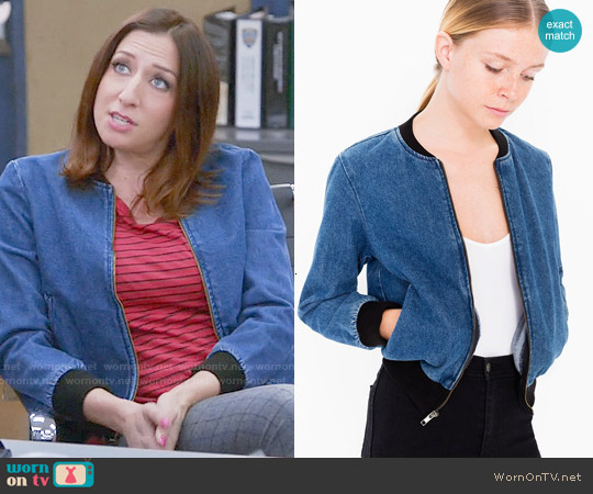 American Apparel Angeleno Denim Jacket worn by Chelsea Peretti on Brooklyn Nine-Nine