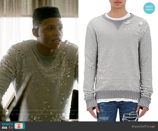 Amiri Distressed Shotgun Sweatshirt worn by Bryshere Y. Gray on Empire