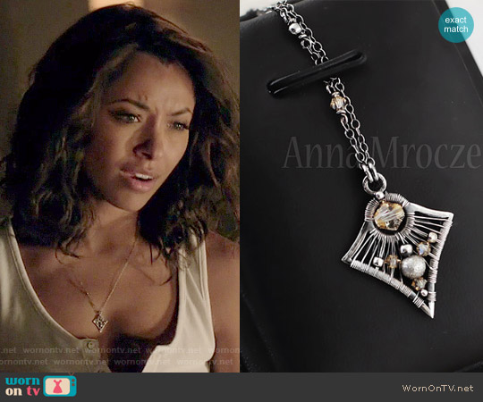 AnnaMroczek Wire Wrapped Necklace worn by Kat Graham on The Vampire Diaries