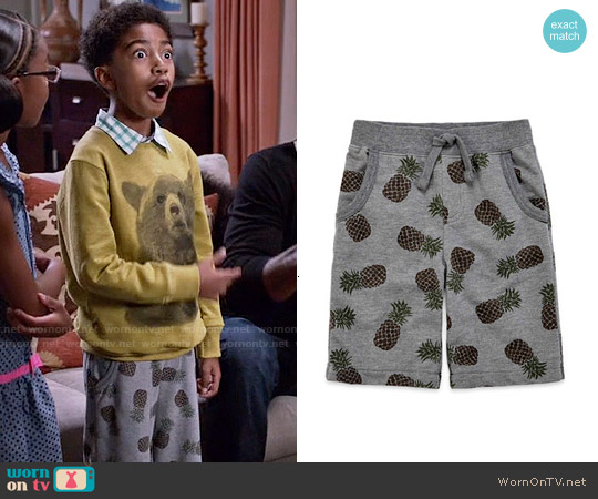 Arizona Print French Terry Shorts worn by Jack Johnson on Blackish