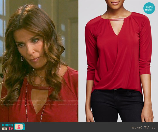Bailey 44 Lisianthus Top worn by Kristian Alfonso on Days of our Lives