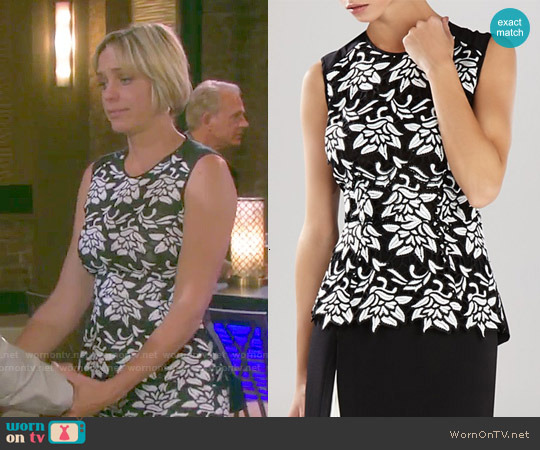 Bcbgmaxazria Shanine Top worn by Arianne Zucker on Days of our Lives