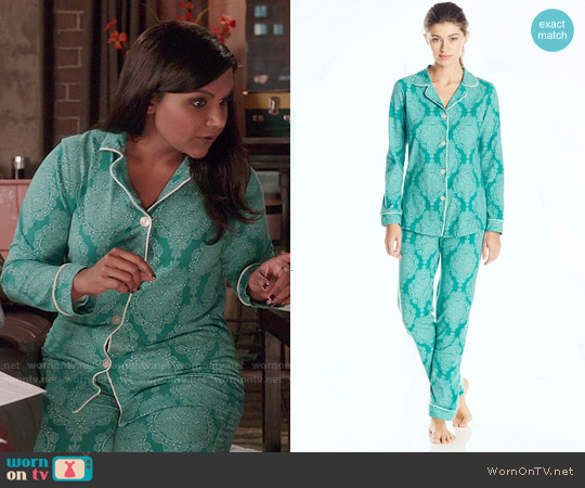 BedHead Jade Mandala Pajama Set worn by Mindy Kaling on The Mindy Project