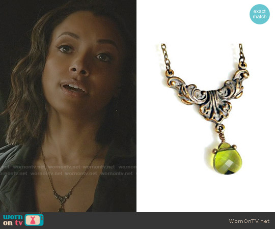 BeeBaublesJewelry Original Design Necklace worn by Bonnie Bennett on The Vampire Diaries