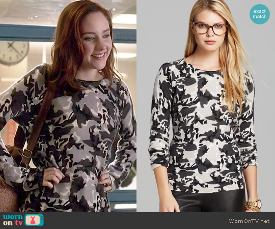C by Bloomingdales Camo Print Cashmere Sweater worn by Haley Ramm on Chasing Life