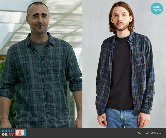 CPO Wyatt Plaid Button-Down Shirt in Green worn by Will Forte on Last Man On Earth