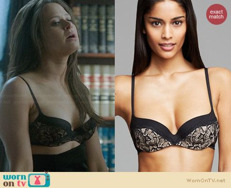 Calvin Klein Underwear Black Label Lace Contour Balconette Bra worn by Katie Lowes on Scandal