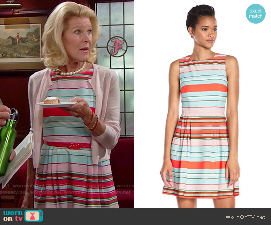 Cece by Cynthia Steffe Claiborne Sleeveless Striped Dress worn by Alley Mills on The Bold & the Beautiful