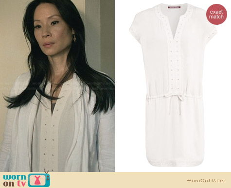 Comptoir des Cotonniers Sack Dress worn by Lucy Liu on Elementary