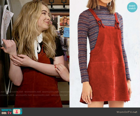 Cooperative Brandy Suede Overall Dress worn by Sabrina Carpenter on Girl Meets World