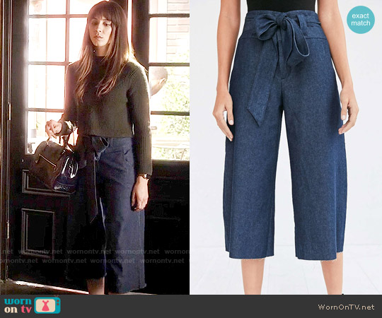Cooperative Naomi Cropped Tie Waist Pants worn by Spencer Hastings on PLL