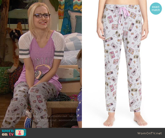Cozy Zoe Print Jersey Lounge Pants worn by Maddie Rooney on Liv & Maddie