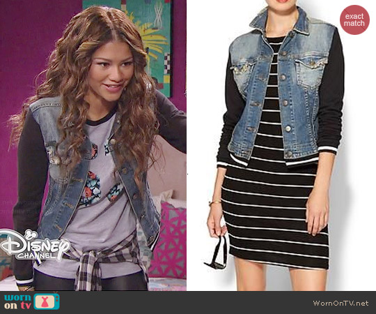 Jet By John Eshaya Varsity Jean Jacket worn by Zendaya on KC Undercover