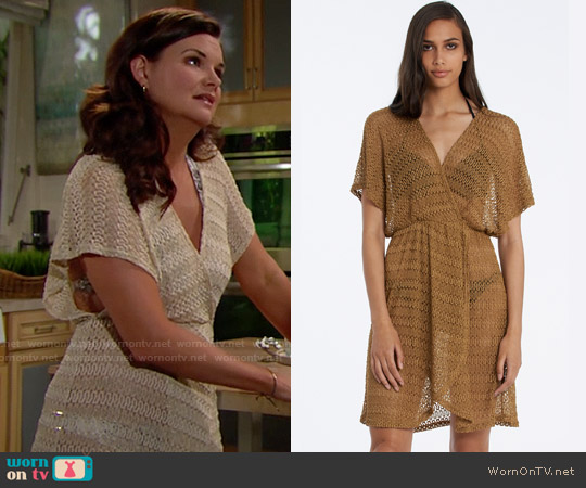 Elif by Jordan Taylor Surplice Wrap Dress worn by Heather Tom on The Bold & the Beautiful
