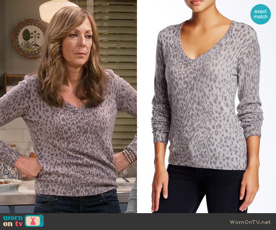 Equipment Cecile Sweater worn by Allison Janney on Mom