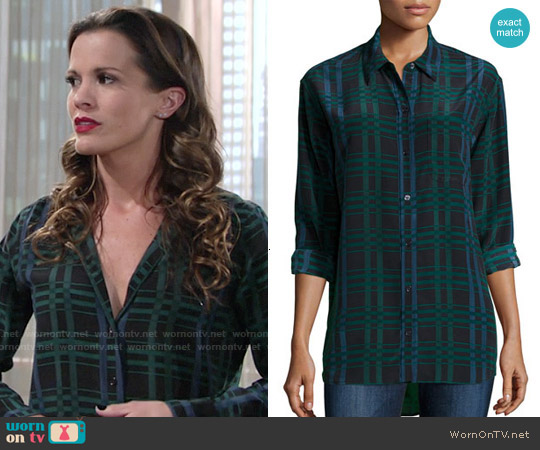 Equipment Daddy Silk Blouse worn by Melissa Claire Egan on The Young & the Restless