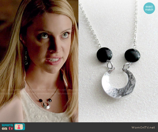 EverythingPrettyShop Above the Moon Necklace worn by Mary Louise on The Vampire Diaries