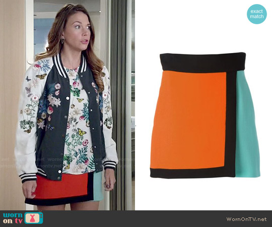 Fausto Puglisi Color Block Wrap Skirt worn by Sutton Foster on Younger