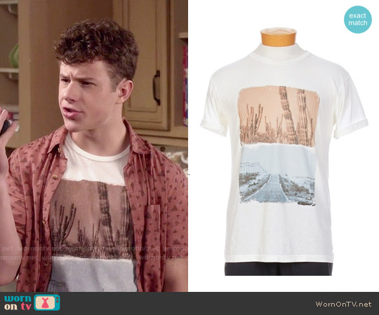 Freedom Artists x Ron Herman Open Road Cactus T-shirt worn by Luke Dunphy on Modern Family
