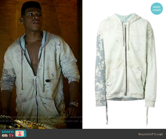 Faith Connexion Tie Dye Zip Hoodie worn by Bryshere Y. Gray on Empire