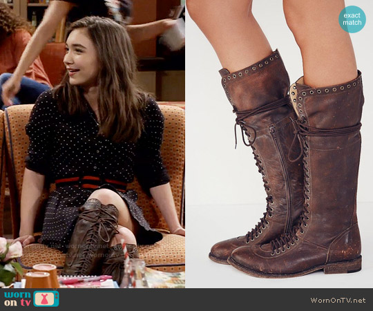 Faryl Robin x Free People Caspian Tall Lace Up Boot worn by Riley Matthews on Girl Meets World