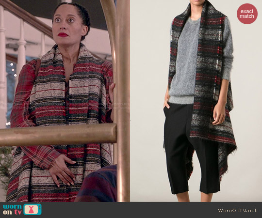 Isabel Marant Ideoa Blanket Jacket worn by Tracee Ellis Ross on Blackish