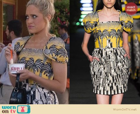 JC de Castelbajac Sprint 2013 Dress worn by Carly Chaikin on Suburgatory