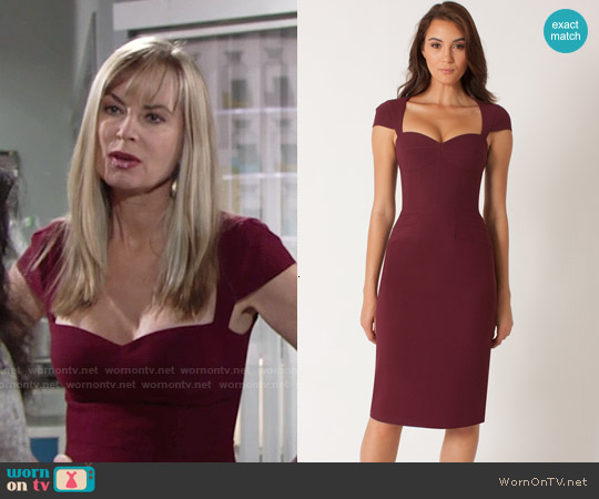 Janie Bryant for Black Halo Shasta Sheath worn by Eileen Davidson on The Young & the Restless