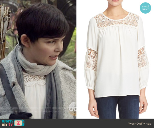 Joie Coastal Embroidered Lace Top worn by Ginnifer Goodwin on OUAT