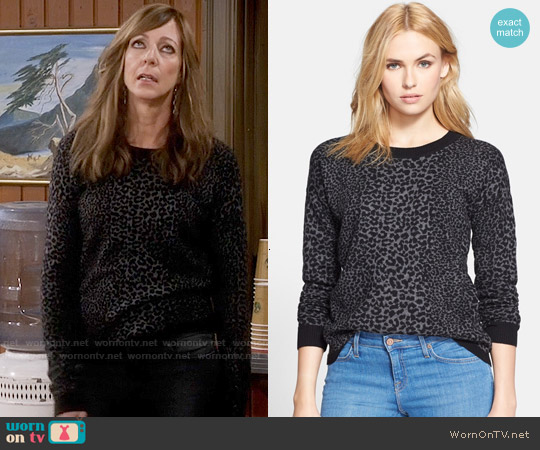 Joie Nigella Leopard Sweater worn by Bonnie Plunkett (Allison Janney) on Mom