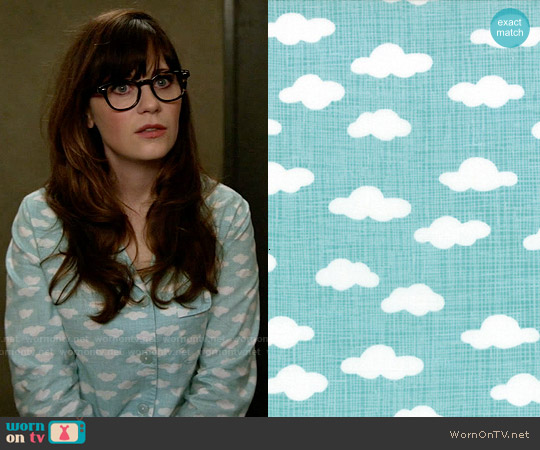 Kate Birdie Storybook Cloud Fabric Pajamas worn by Zooey Deschanel on New Girl