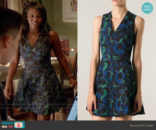 Kenzo Abstract Print Skater Dress worn by Aja Naomi King on HTGAWM
