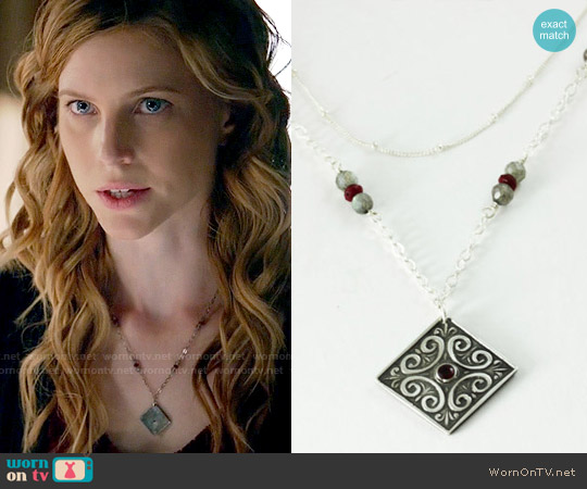 KimJakumDesigns Celtic Dream Necklace worn by Elizabeth Blackmore on The Vampire Diaries