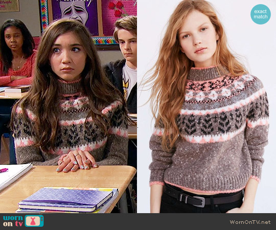 Kimchi Blue Up North Sweater in Cream worn by Rowan Blanchard on Girl Meets World