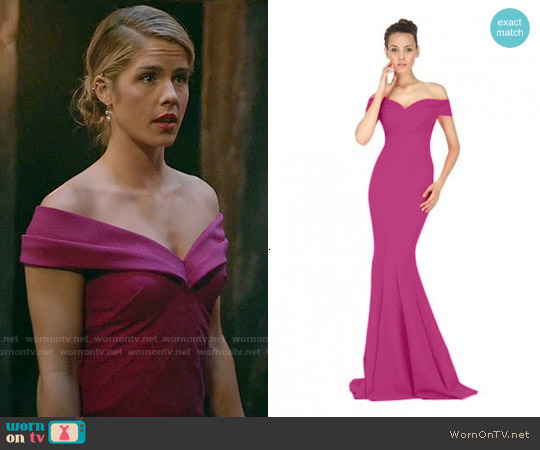 La Petite Robe di Chiara Boni Genny Gown worn by Emily Bett Rickards on Arrow