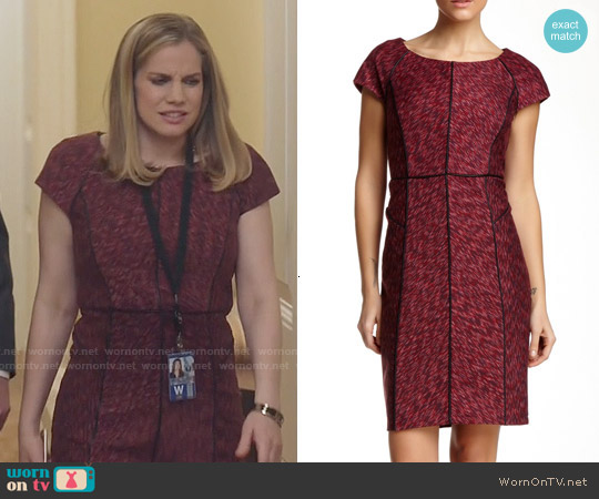Laundry by Shelli Segal Seam Detail Dress in Hot Date Multi worn by Anna Chlumsky on Veep