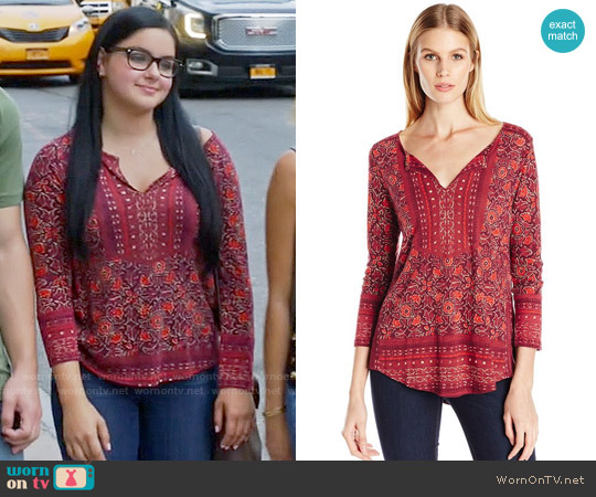 Lucky Brand Block Floral Top worn by Ariel Winter on Modern Family