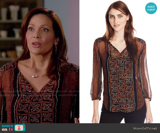 Lucky Brand Kaylee Peasant Top worn by Constance Marie on Switched at Birth