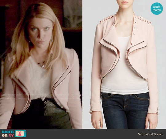 Lucy Paris Crop Moto Jacket worn by Teressa Liane on The Vampire Diaries