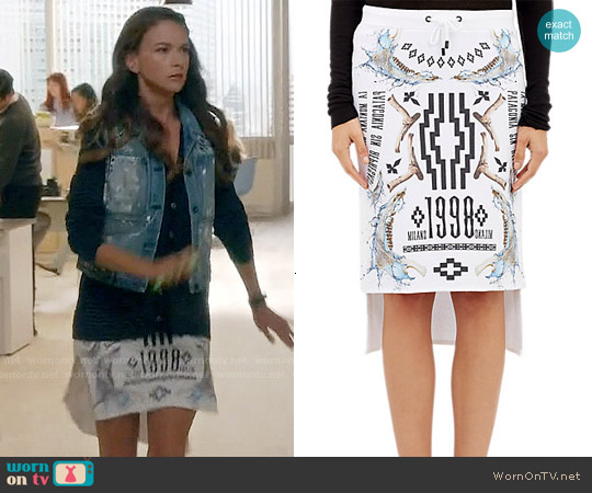 Marcelo Burlon County of Milan Fleece Milano 1998 Skirt worn by Sutton Foster on Younger