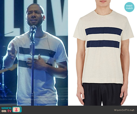 Margaret Howell Striped T-shirt worn by Jussie Smollett on Empire