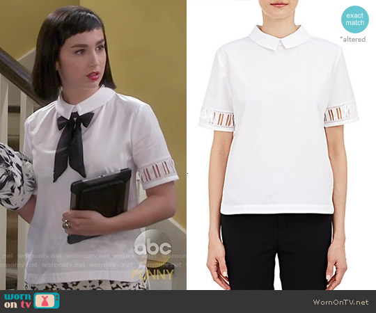Maud Heline Aroze Blouse worn by  Molly Ephraim on Last Man Standing