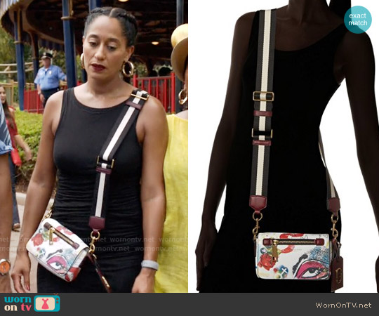 Marc Jacobs Collage Printed Leather Cross Body Bag worn by Tracee Ellis Ross on Blackish
