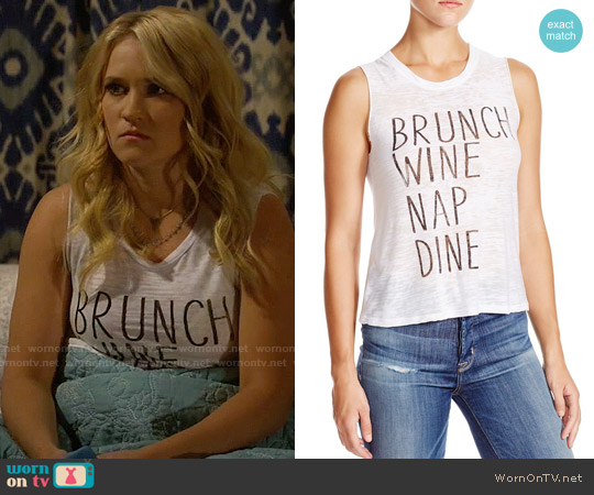 Nation LTD Camden Brunch Tank worn by Emily Osment on Young & Hungry